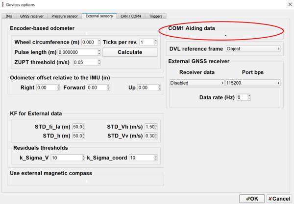 COM1 Aiding Data