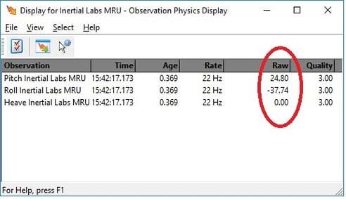 Display for MRU