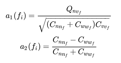 Fourier coefficient equation