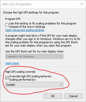 High DPI scaling override