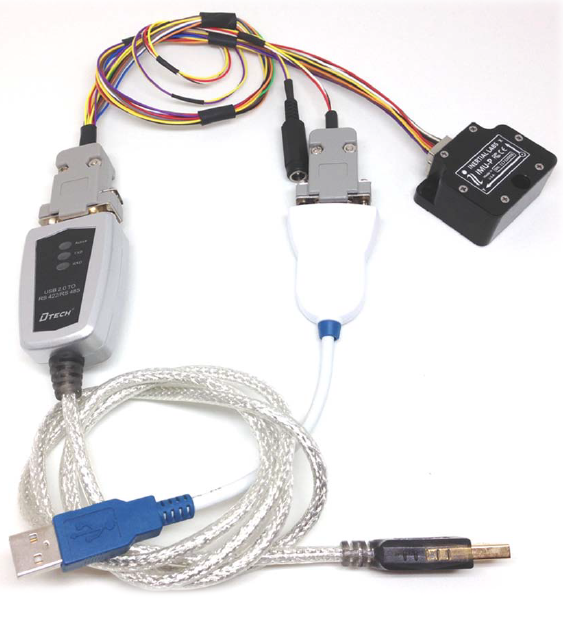 IMU-P data cable and converters