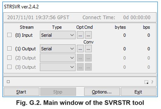 STRSVR main window