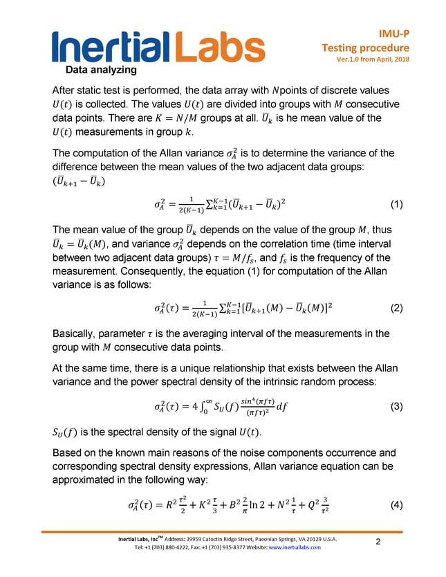 Testing procedure page 2