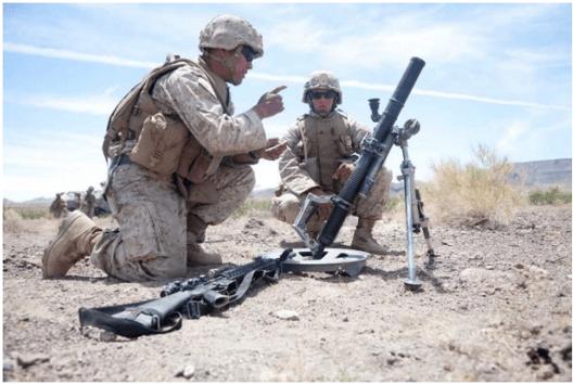 Military Mortar Training
