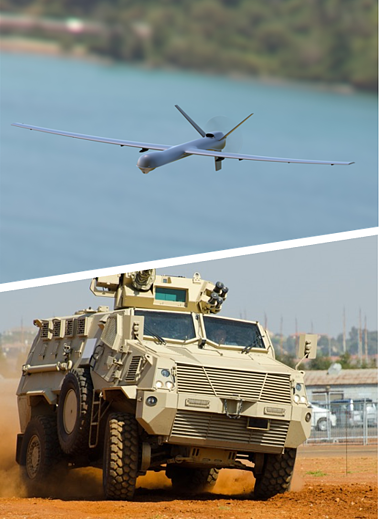 Drone and Land Vehicle