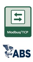 Modbus/TCP and ABS logos