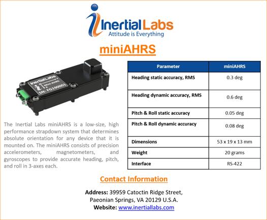 miniAHRS specs